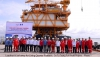 Load out and sail away for the topside module 1 and module 2 of production injection platform of the su tu trang full field development project phase 1